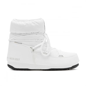 Kadın Bot 24009300 002 MOON BOOT LOW NYLON WP 2 WHITE