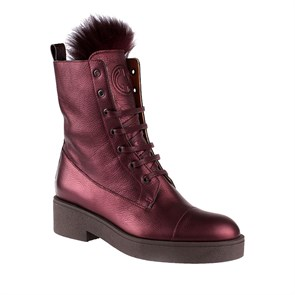 BORDO Kadın Bot PO-6764 64  LEATHER JOHN MAY