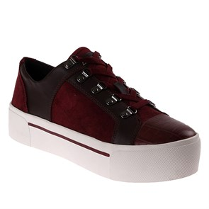 LACİVERT Kadın Dolgu Taban 23353418 DKNY SILKY SHEEP SUEDE-HAIRCALF LEATHER BEET RED