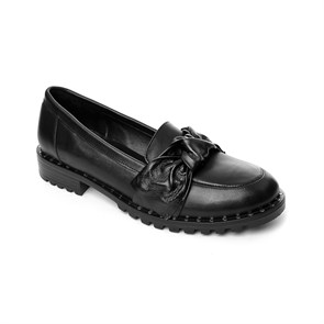 SİYAH Kadın Loafer MS- 400-102 BLA JOHN MAY LEATHER BLACK