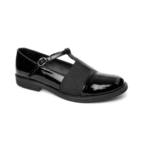 SİYAH Kadın Babet MS- 413-68 PLTH JOHN MAY PATENT LEATHER BLACK