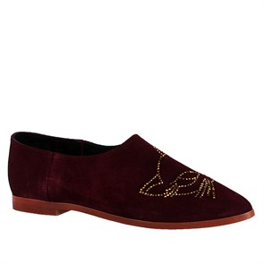 BORDO Kadın Slip On - Bağcıksız TU-4003-232 LEATHER JOHN MAY