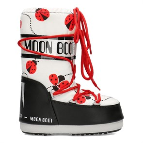 Kadın Kar Botu 34002000 001 MOON BOOT JR GIRL LADYBUG BLACK-WHITE-RED
