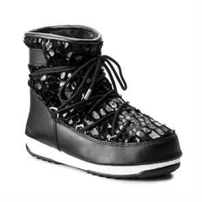 Kadın Kar Botu WaterProof Termo Taban 24007000-001 MOON BOOT W.E. LOW MIRROR WP BLACK