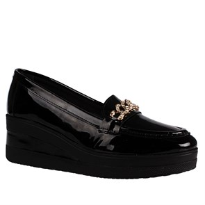 SİYAH Kadın Loafer BU-2829-73 200 PATENT LEATHER JOHN MAY