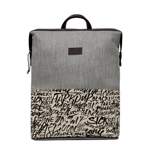 Kadın Sırt Çantası DGB020-SLM003 Dogo Slim Backpack Fonts in Splash