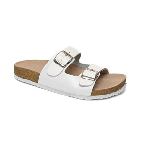 BEYAZ Kadın Terlik BA-S902.002 JOHN MAY LEATHER WHITE