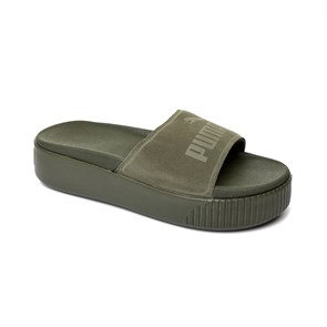 Kadın Terlik 36706302 PUMA PLATFORM SLIDE BOLD SD WNS FOREST NIGHT-