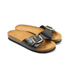 KAHVE Kadın Sandalet 5830 Frau Natural-S Sandals Leather Nero
