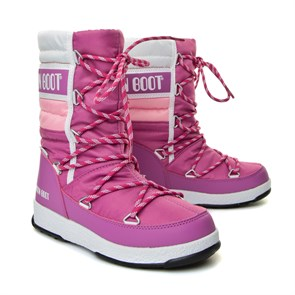 Kız Çocuk Kar Botu WaterProof Termo Taban 34051500-004 MOON BOOT WE QUILTED JR WP ORCHID- PINK-WHITE