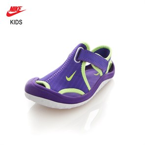 Nike YEŞİL Kız Çocuk Sandalet 344993-513 NIKE SUNRAY PROTECT (TD) HYPER GRAPE-GHOST GREEN-WHITE