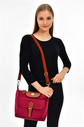 TH Bags  Kadın Omuz Çantası TH60800 MEDIUM BORDO
