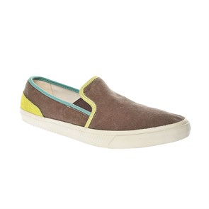 Timberland KREM Erkek Slip On - Bağcıksız 9827A TIMBERLAND HKSTCMP WSHCNVS SO Olive Washed Canvas