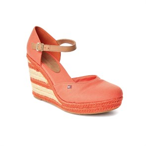 Tommy Hilfiger KIRMIZI Kadın Espadril FW56815286 EMERY 11-RED ORANGE
