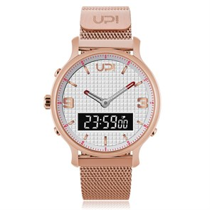 UP Watch  Unisex Saat 1554 UPWATCH DOUBLE STEEL ROSE WHITE